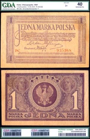 II Rzeczpospolita, 1 marka polska 17.05.1919 - GDA XF40