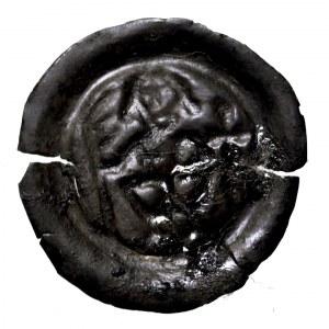 Zakon Krzyżacki, brakteat rycerz z tarczą, 1245, Toruń/Elbląg
