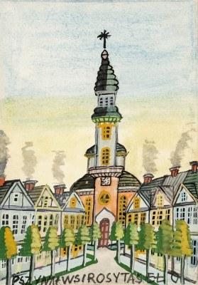 Nikifor Krynicki - Kościół ewangelicki w Pszczynie