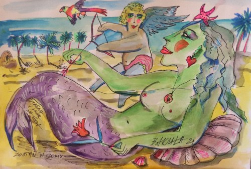 Hanna Bakuła (ur.1950), Syrena i Amor na Goa,2021