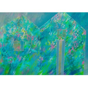 Serge Vasilendiuc ( ur.1972), Windy Grass Houses, 2020