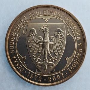 ČNS / AR medaile k 35. výročí ČNS pobočky v Havířově, 25.57 g, certifikát, etue, Ag,