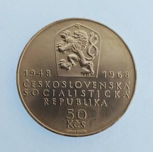 Období 1945-1990 / 50 Kčs 1968 Republika, Ag,
