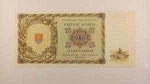 Slovenský štát [1939 - 1945] / 5000 K 18.12.1944 sér. 3LK, perf. - 2x SPECIMEN,