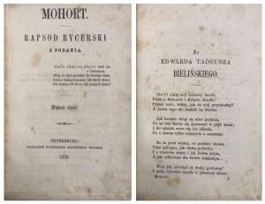 POL - MOHORT. RAPSOD RYCERSKI 1858 ŁADNY EGZ.
