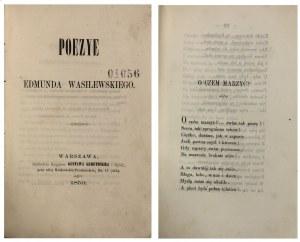 WASILEWSKI – POEZYE 1859 r.
