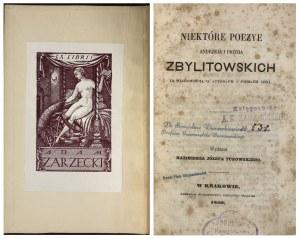 NIEKTÓRE POEZYE ZBYLITOWSKICH 1860 r.