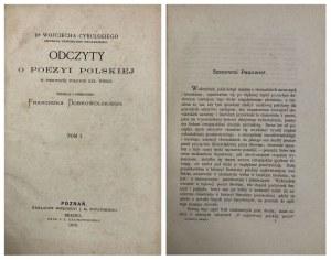 ODCZYTY O POEZYI POLSKIEJ 1870 r.