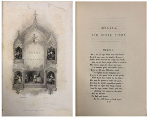 COOK - MELAIA I INNE POEZJE WYD. I 1840