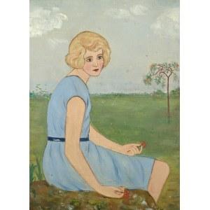 Wlastimil Hofman (1881-1970), Kobieta w niebieskiej sukience