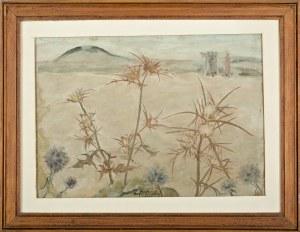Wlastimil Hofman (1881-1970), Pejzaż symboliczny z ostami (1944)