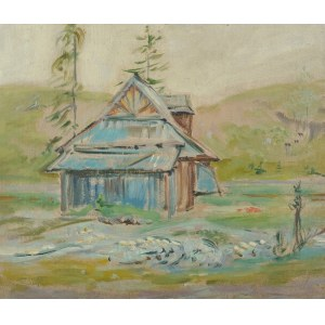 Wlastimil Hofman (1881-1970), Pejzaż z chatą