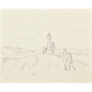 Wlastimil Hofman (1881-1970), Wiecznie młoda muza prowadzi przyszłego artystę | Kąpiące się (rysunek dwustronny)