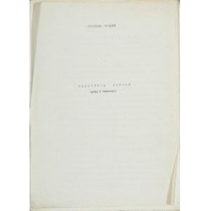 Wlastimil Hofman (1881-1970), Maszynopis niewydanej książki Stanisława Zadęckiego Wlastimil Hofman. Życie i twórczość z prawem do wydania