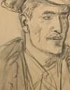 Wlastimil Hofman (1881-1970), Portret mężczyzny w kapeluszu