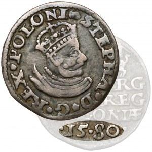 Stefan Batory, Trojak Olkusz 1580 - mała głowa - rzadkość