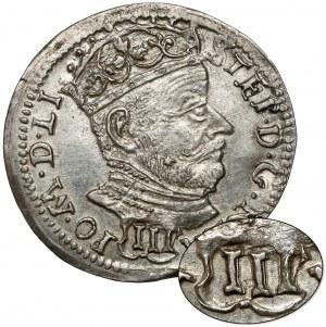 Stefan Batory, Trojak Wilno 1580 - III w OZDOBNEJ tarczy - b.rzadki