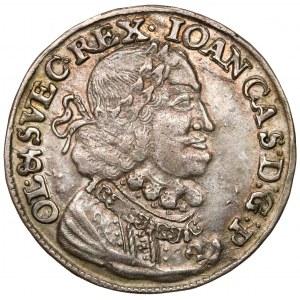 Jan II Kazimierz, Ort Bydgoszcz 1651 CG - tarcza zaokrąglona