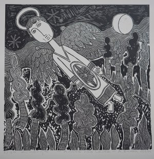 """Arkadiusz Burda, """"Anioł nad lasem"""", 2020"""