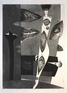 """Jerzy Dmitruk, """"Scena rodzajowa z czułym kochankiem w tle"""", 2003-2009"""
