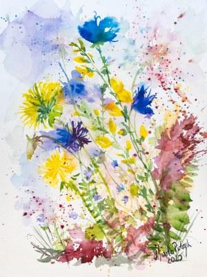 """Marta Pietrzyk, """"Kompozycja kwiatowa"""", 2020"""