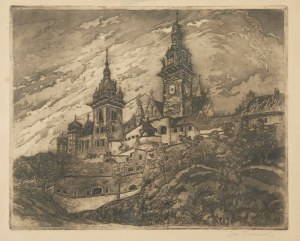 Jan RUBCZAK (1884-1942), Wawel - Widok na katedrę, ok. 1913