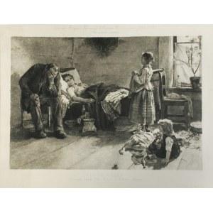 Feliks Stanisław JASIŃSKI (1862-1901), Chora matka, ok. 1890