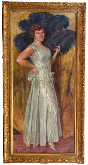 Wincenty Wodzinowski (1866 Igołomnia k. Miechowa - 1940 Kraków), Portret córki artysty – Krystyny, 1931 r.