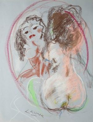 Ludwik Klimek (1912 Skoczów - 1992 Nicea), Akt z lustrem - Jestem piękna