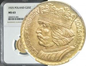 20 złotych 1925, Bolesław Chrobry, mennicze