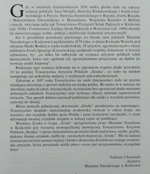 Sztuka kręgu 'Sztuki'. Towarzystwo Artystów Polskich 'Sztuka' 1897-1950
