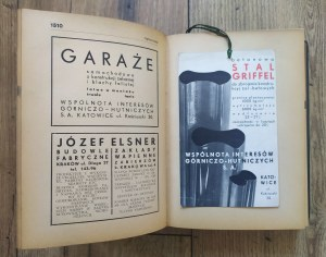 Kalendarz przeglądu budowlanego na rok 1938 [reklamy]