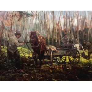 Alfred WIERUSZ-KOWALSKI (1849 - 1915), Praca w lesie, ok. 1905