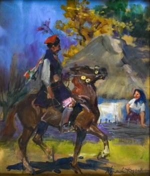Wojciech KOSSAK (1856-1942), Drużba krakowski, 1934