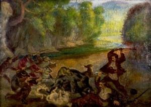 Fryderyk PAUTSCH (1877-1950), Polowanie na dzika, 1907