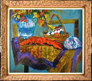 Jan SZANCENBACH (1928-1998), Martwa natura z langustą, 1996