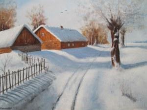 Andrzej Kielar, Wiejska droga zimą, 2021
