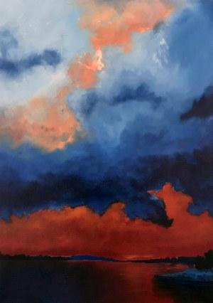 Mateusz BRZOZOWSKI (ur. 1996), Wschód słońca nad Wisłą w Nowem, 2020