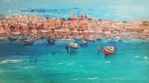 Patrycja KRUSZYŃSKA-MIKULSKA (ur. 1973), Colorful Luzzu Boats, 2020