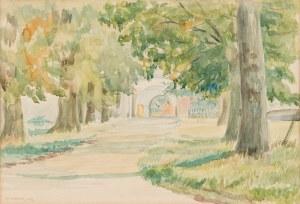 Kossak Karol (1896-1975), Aleja do klasztoru, 1924