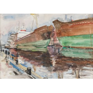 Siwecki Alojzy (1912 - 1988), Statki w gdyńskim porcie, lata 70. XX w