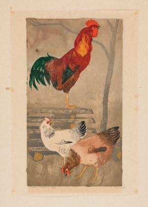 Bunsch Adam (1896-1969), Kogut i kury, 1932