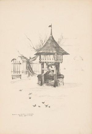 Gumowski Jan Kanty (1883-1946), Lublin. Studnia przy kościele na przedmieściu, 1917