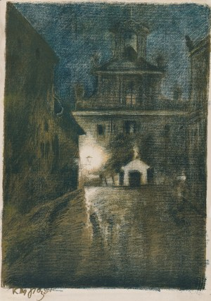 Sichulski Kazimierz (1879-1942), Kościół XX. Pijarów, 1911