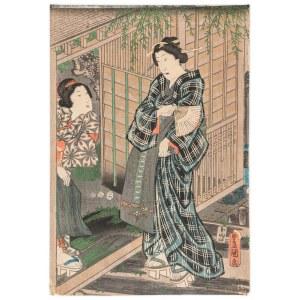 Kunisada Utagawa / Toyokuni III (1786-1865), Wizyta damy, 1847-1853
