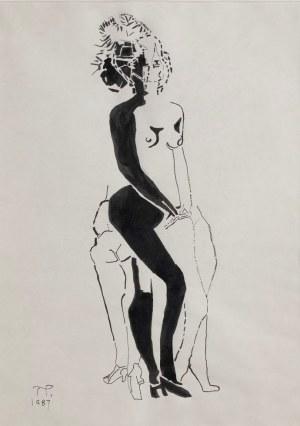 Teresa Pągowska, Akt w szpilkach, 1987