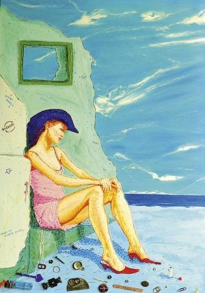 Igor Buszkowski, Kobieta w kapeluszu, 2003