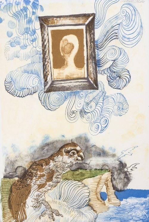 "Jan Lebenstein Ilustracja do wydania poezji Eugenio Montale ""Cinquante Ans De Poesie"", 1972"