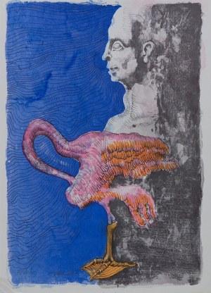 Jan Lebenstein (1930 - 1999), Człowiek - ptak, 1972