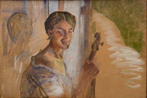Jacek Malczewski (1854-1929), Portret córki Julii, 1911